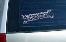Autoaufkleber Forstwirtschaft in Deutschland
