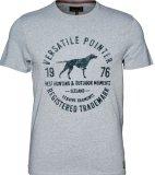 Seeland Aiden-T-shirt Vorstehhund, grey melange in M